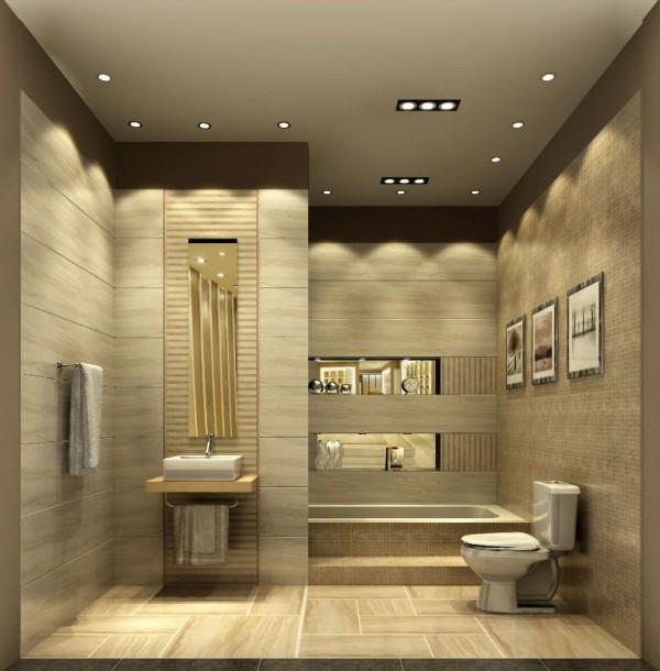 تصاميم مثيرة من اسقف الحمامات باضواء حديثة