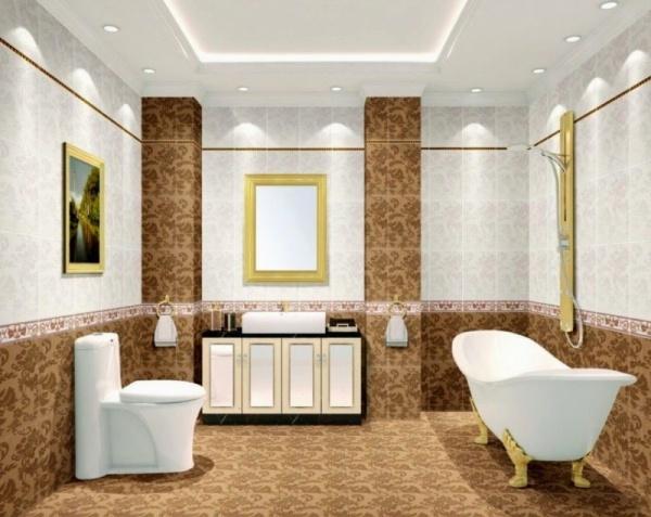 صور - اختارى اشيك تصاميم اسقف الحمامات الجبسية