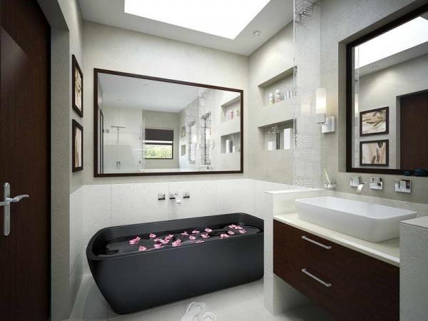 البانيو المتحرك من الافكار لتزيين الحمام