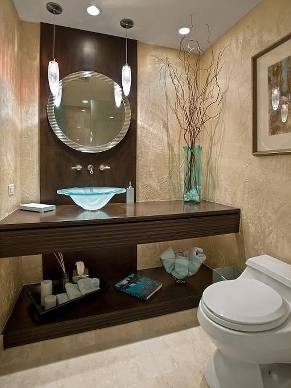 الديكورات الخشبية من الافكار لتزيين الحمام