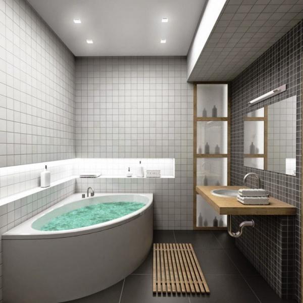 البلاطات الصغيرة من الافكار لتزيين الحمام