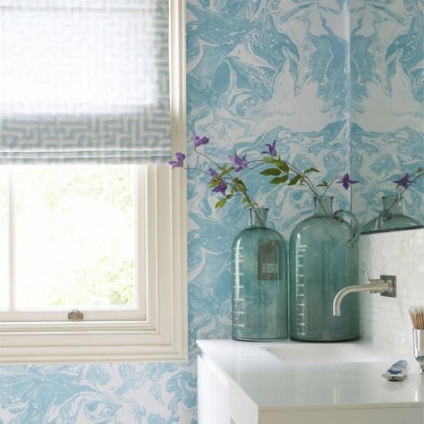 ورق الحائط من الافكار لتزيين الحمام