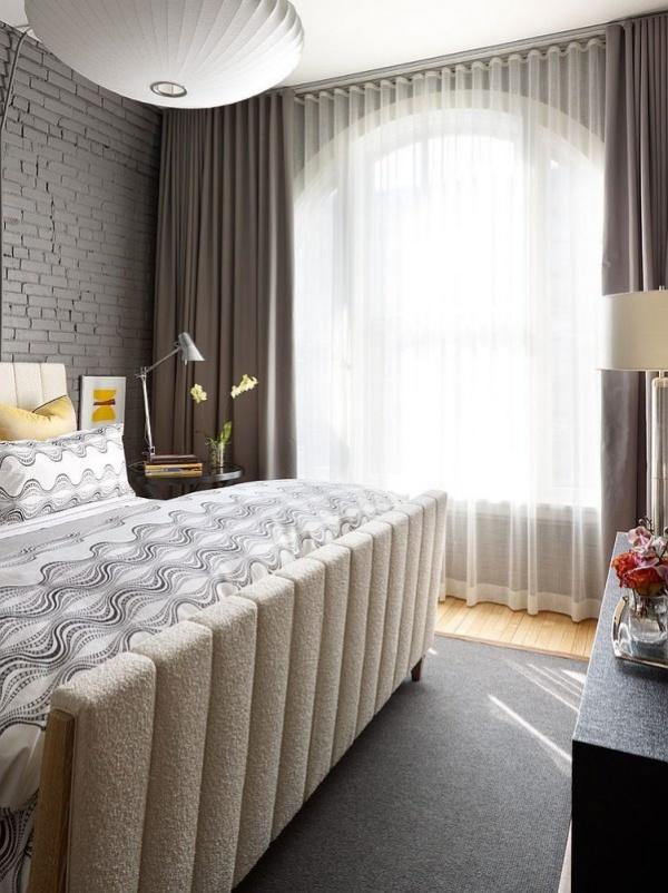 موديلات ستائر غرف النوم بالشباك الكبير