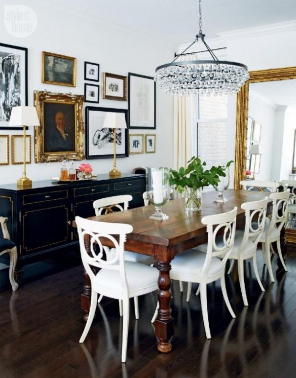غرف الطعام بالتصميم الكلاسيكي