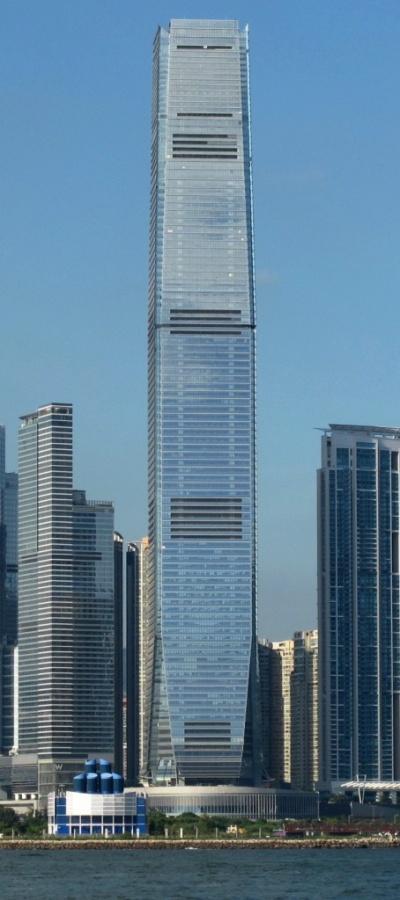 مركز التجارة الدولية في هونج كونج من اطول ابراج العالم