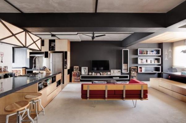 الخشب هو احد المواد المفضلة فى تصاميم منازل 2018