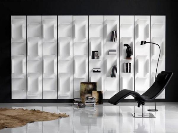 اشكال المكتبات المدهشة فى تصاميم منازل 2018