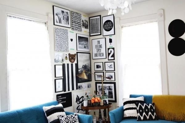 انشاء جدار فنى لتزيين زوايا المنزل