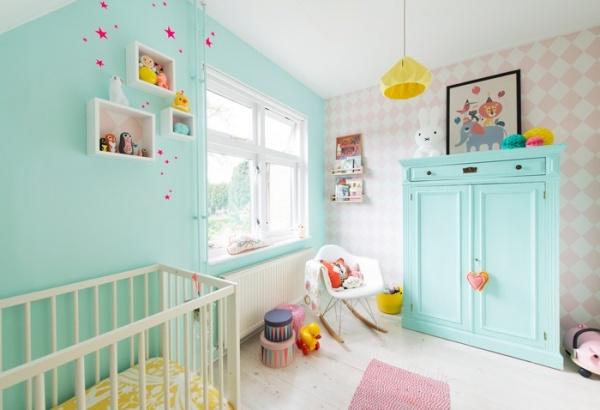 درجات فائقة الجمال للطلاء فى تصاميم غرف اطفال 2018
