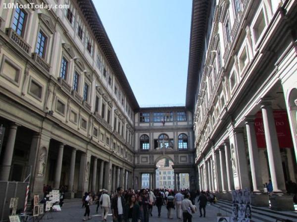 معرض أوفيزي من افضل الاماكن في فلورنسا