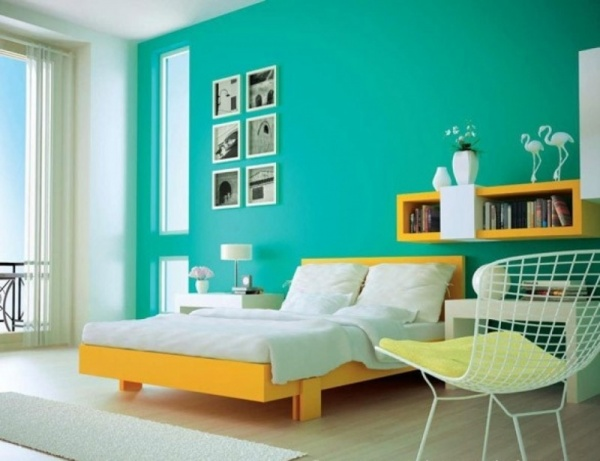 - Two colour combination for bedroom walls ...